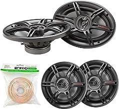 $78 » Car Speaker Package - 2X Crunch CS653 6.5-Inch Full Range 3-Way Black Upgarde Audio Stereo Coaxial Speakers + 2X CS693 6x9...