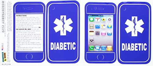 ملصق Graphics and More جلد حماية لهاتف iPhone 3G 3Gs–حزمة غير مجزأة–لمرضى السكري––Star من الحياة في حالات الطوارىء الطبية