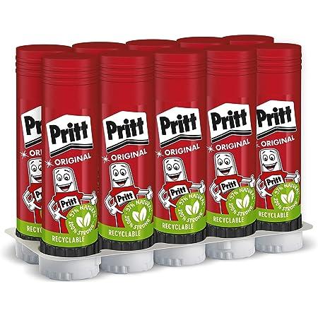 Pritt Stick 43 g - Pegamento en barra, Rojo, 10 unidades