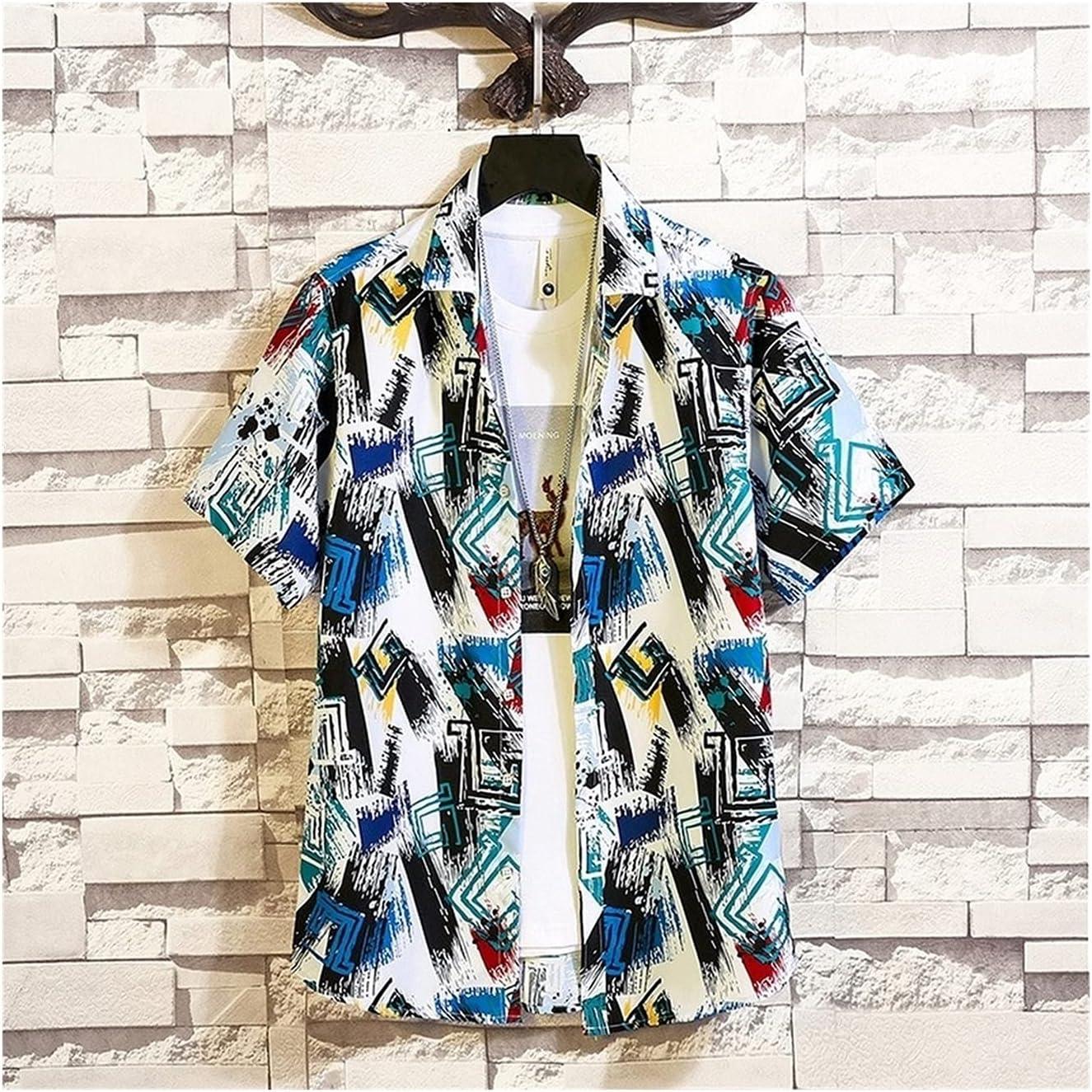 GUOQUN-SHOP Hawaiian Shirt Popular products Men Clothing Holiday Wear Fashion Max 79% OFF