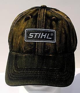 Stihl Weathered Looking Black / Brown Streaked Cap / Hat