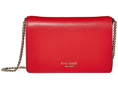 Kate Spade New York Spencer Chain Wallet (Hot Chili) Handbags