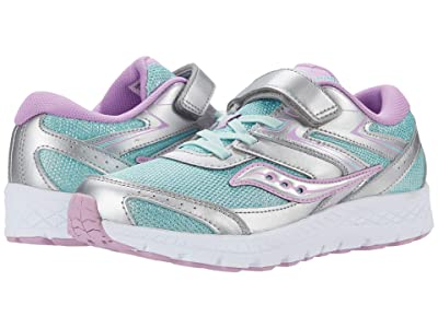 Saucony Kids S-Cohesion 13 A/C (Little Kid/Big Kid) (Silver/Turquoise) Girls Shoes