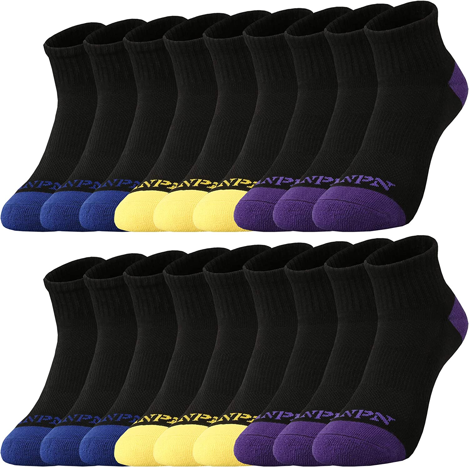 ANPN Low Cut Socks 18 Pairs Unisex Cushioned Non Slip Casual Athletic for Toddler Boy Kids 2-4 4-6 5-7 6-8 Yeas