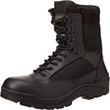 Black Tactical Boot with YKK Zipper, Easy On & Off