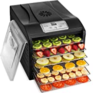 Magic Mill MFD-6100 Magic Mill... Magic Mill MFD-6100 Magic Mill Professional Dehydrator Machine, 6 Stainless Steel Drying Racks,...