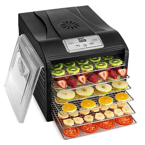 0ab0866f9f98 MAGIC MILL Professional Food Dehydrator Machine, 6 Stainless Steel Drying  Racks, Multi-Tier