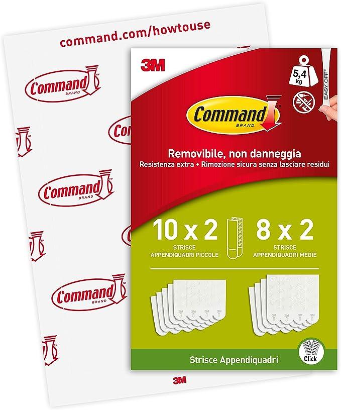 824 opinioni per Command Strisce Adesive Appendiquadri Piccole e Medie, Confezione da 4 Coppie di