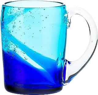 アールジーシー(RGC) ジョッキ 青/水 8.5×12 琉球ガラス