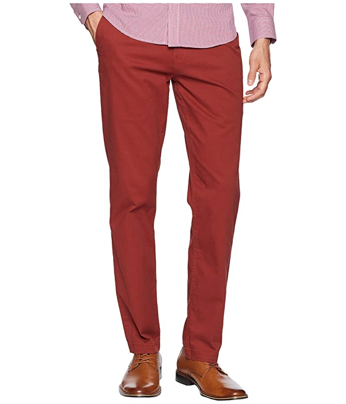 Men's Vintage Pants, Trousers, Jeans, Overalls Ben Sherman Slim Stretch Chino Pants MG10647 Rust Mens Casual Pants $71.10 AT vintagedancer.com