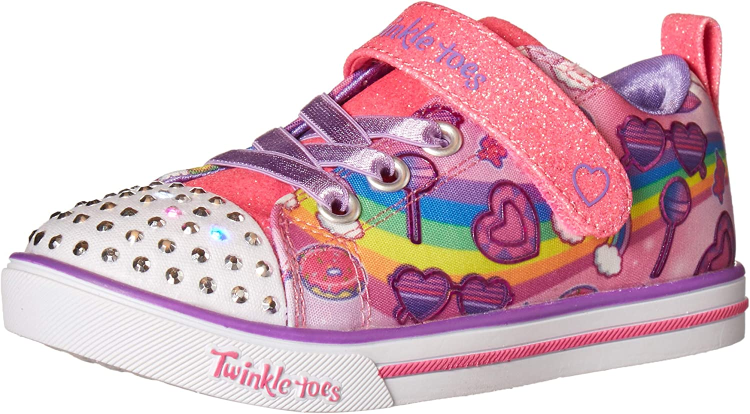 Skechers Unisex-Child Lighted Toes Colorado Springs Mall Sneaker Twinkle Attention brand