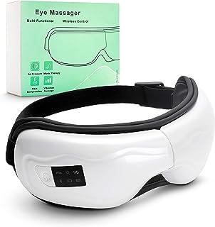 ماساژور برقی چشم قابل حمل اتصال بلوتوث ویبره موسیقی درمانی فشار هوا ماساژور فشرده سازی گرما برای خشکی چشم و رفع خستگی چشم