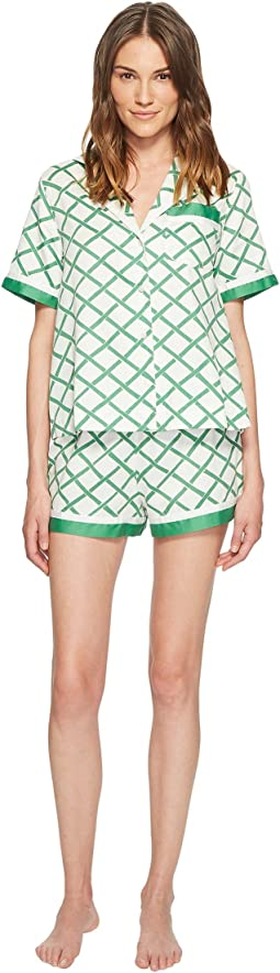 Bamboo Lattice Short Pajama Set