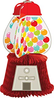 Creative Converting Vibrantly Coloured 3D Gumball Candy Shop Party Centrepiece, 12-Inch Height