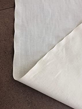 AK TRADING CO. Muslin Fabric/Textile Unbleached - Draping Fabric - Natural 10 Yards Medium Weight - 100% Cotton (63in. Wide),