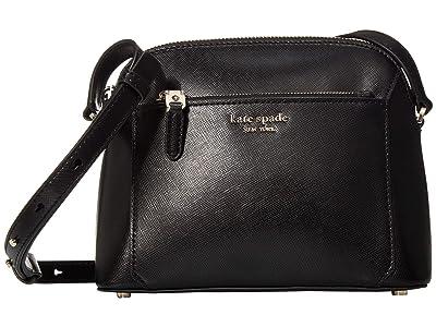 Kate Spade New York Louise Medium Dome Crossbody (Black) Handbags