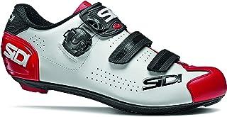 SIDI Scarpe Alba 2, Scape Ciclismo Uomo, Bianco Nero Rosso, 47
