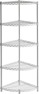 Muscle Rack WSCR141447 5-Shelf Steel Wire Corner Shelving Unit, 14