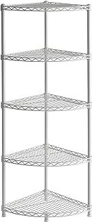 Muscle Rack WSCR141447 5-Shelf Steel Wire Corner Shelving Unit, 14