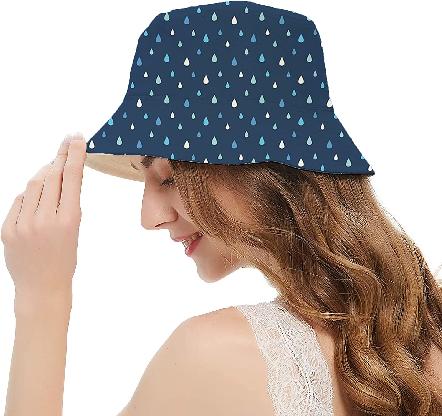 Women Fisherman Hat Sun Protection Packable for Summer Outdoor Traveling