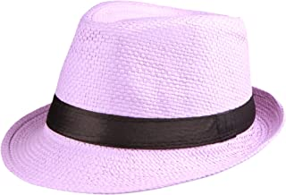 Enimay Unisex Vintage Fedora Hat Classic Timeless Light Weight 239568b24d9