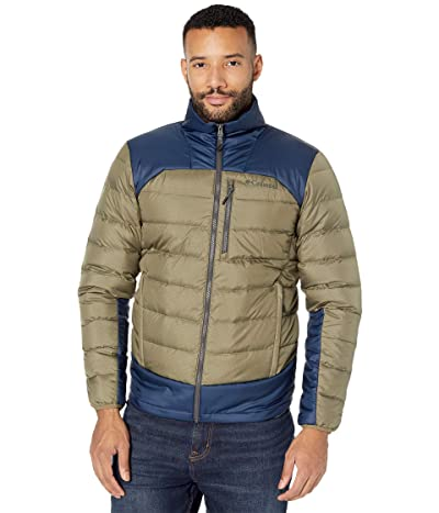 Columbia Autumn Parktm Down Jacket (Stone Green/Collegiate Navy/Shark) Men