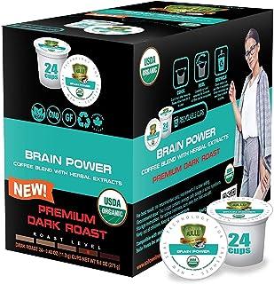 SOLLO Brain Power Dark Coffee Pods MCT, Acai & Vitamins B1, B5, B6, B9, B12, D3 Nootropic Brain Booster- Improves Memory &...