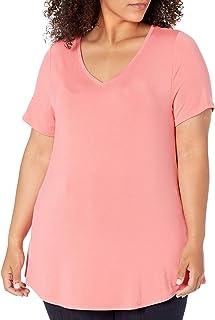 Women's Plus Size Short-Sleeve V-Neck Tunic