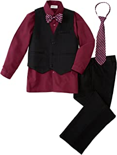 Big Boys' 5 Piece Pinstripe Vest Set