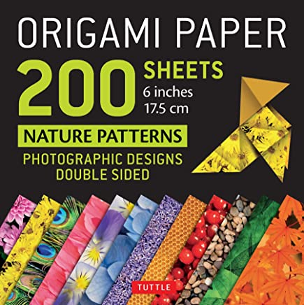 "Origami Paper 200 Sheets Nature Patterns 6"" (15 CM): Photographic Designs from Nature (12 Designs; 8-Page Booklet)"