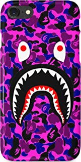BrilliantCustoms New Camo Shark Mouth Durable Strong iPhone Case | iPhone 6,6+,7/8, 7/8+, X, XS, XR, XS Max | Pink Red Green Purple Blue Rainbow Orange Multicolor Off White (Purple, iPhone 6/6s)