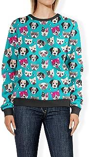 Rainbow Rules Puppy Party Womens Sweatshirt - 2XL Blue