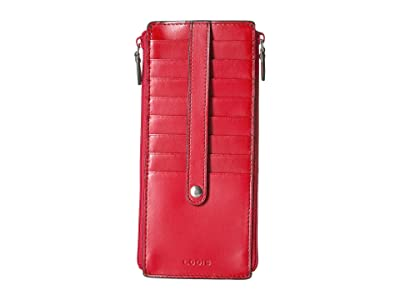 Lodis Accessories Audrey RFID Joan Double Zip Card Case (Red) Wallet