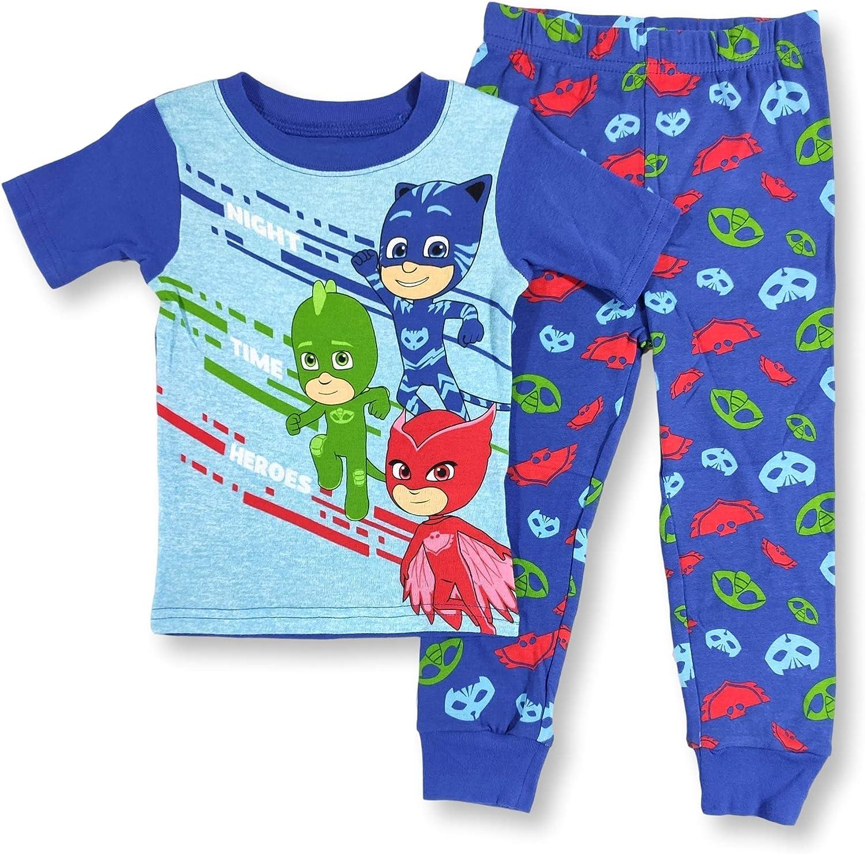 PJ Masks Pajamas 2-Piece Night Time Heroes Short Sleeve PJ Set for Toddler Boys