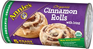 Annie's Organic Cinnamon Rolls, Ready to Bake Cinnamon Rolls with Icing, 5 Count
