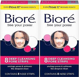 Best Biore Biore Deep Cleansing Pore Strips, Original 8 Count Box (Pack of 2) Review