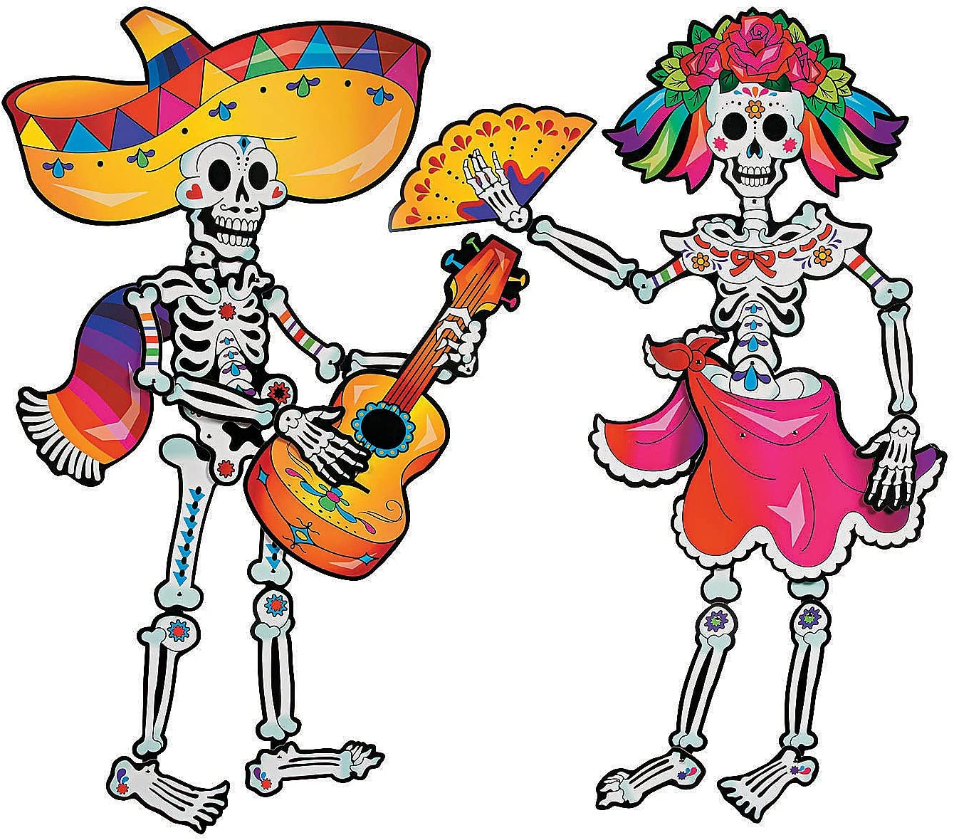latest Day New popularity Of The Dead Skeleton Couple Jointed 4 - Ta Over Cutouts feet