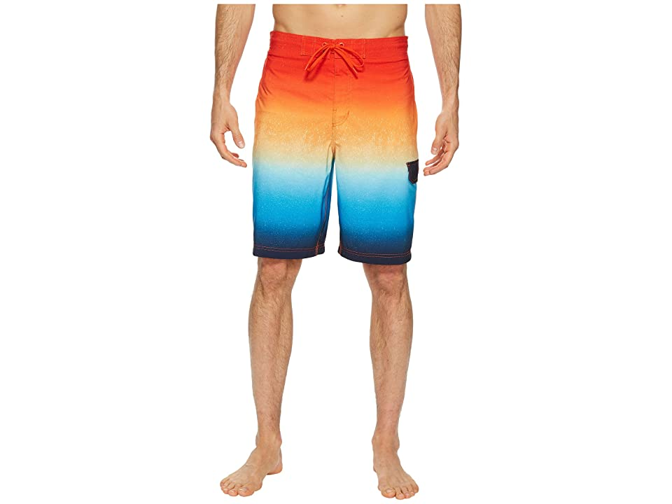Speedo Spray Blend Ombre E-Boardshorts (Electric Orange) Men