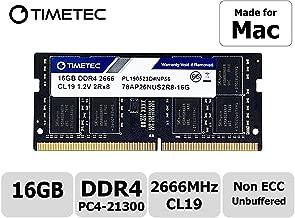 Timetec Hynix IC 16GB Compatible for Apple 2019 iMac 27-inch w/Retina 5K Display, Late 2018 Mac Mini DDR4 2666MHz PC4-21300 2Rx8 CL19 1.2V SODIMM Memory RAM Upgrade (16GB)