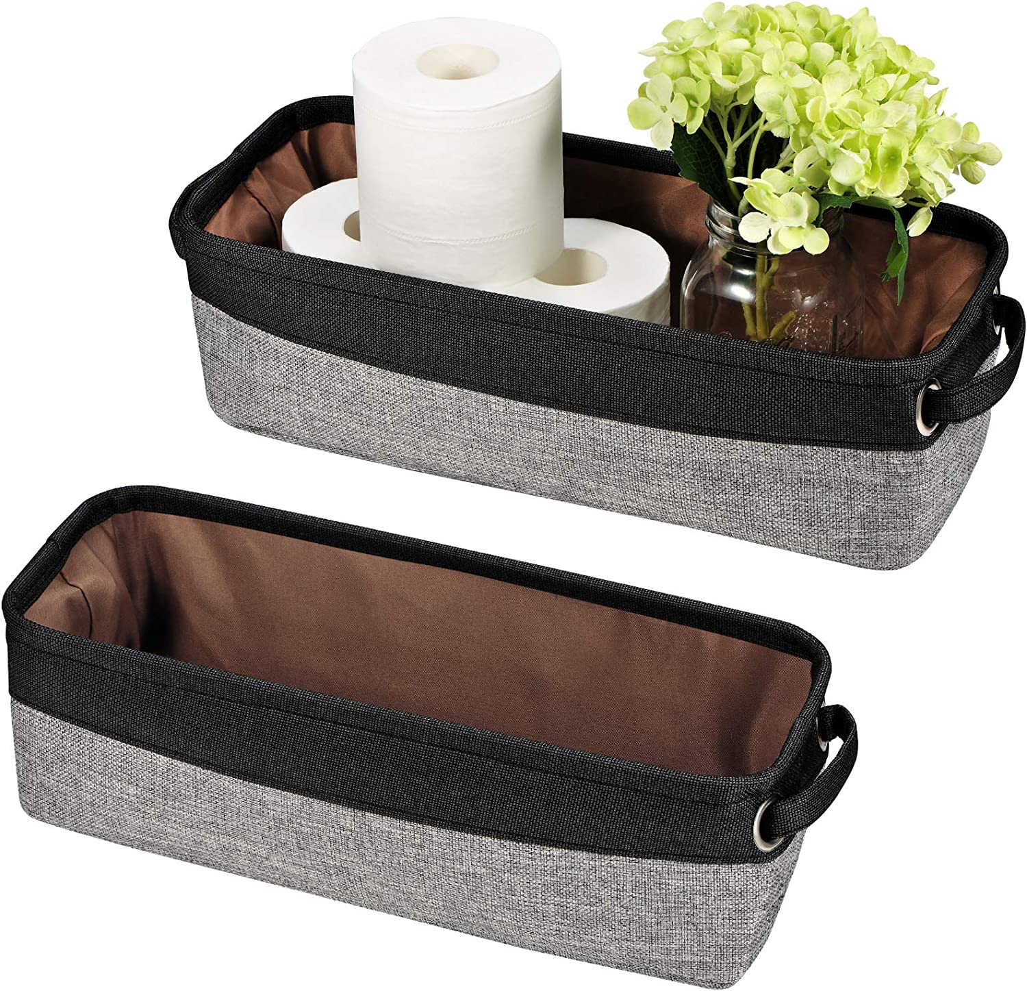 Soft Cotton Genuine Fabric Home Storage Coated with Interior Handl Bin Challenge the lowest price of Japan