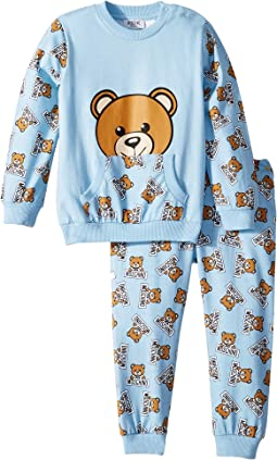 All Over Teddy Bear Print T-Shirt & Pants Set (Infant/Toddler)