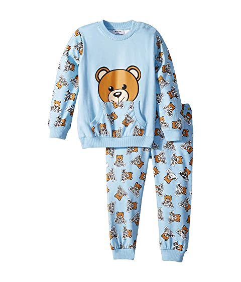 Moschino Kids All Over Teddy Bear Print T-Shirt & Pants Set (Infant/Toddler)