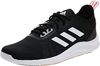 Adidas Asweetrain Mesh Textile Three Side Stripe Logo Tongue Lace-Up Sneakers for Men - Core Black 44 2/3