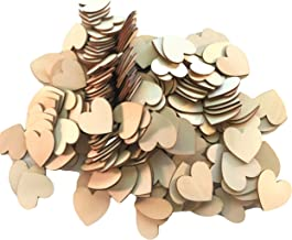 Wooden Hearts Slices, Discs, Cutouts, 200 pcs, Crafting, DIY Wedding, Valentine,