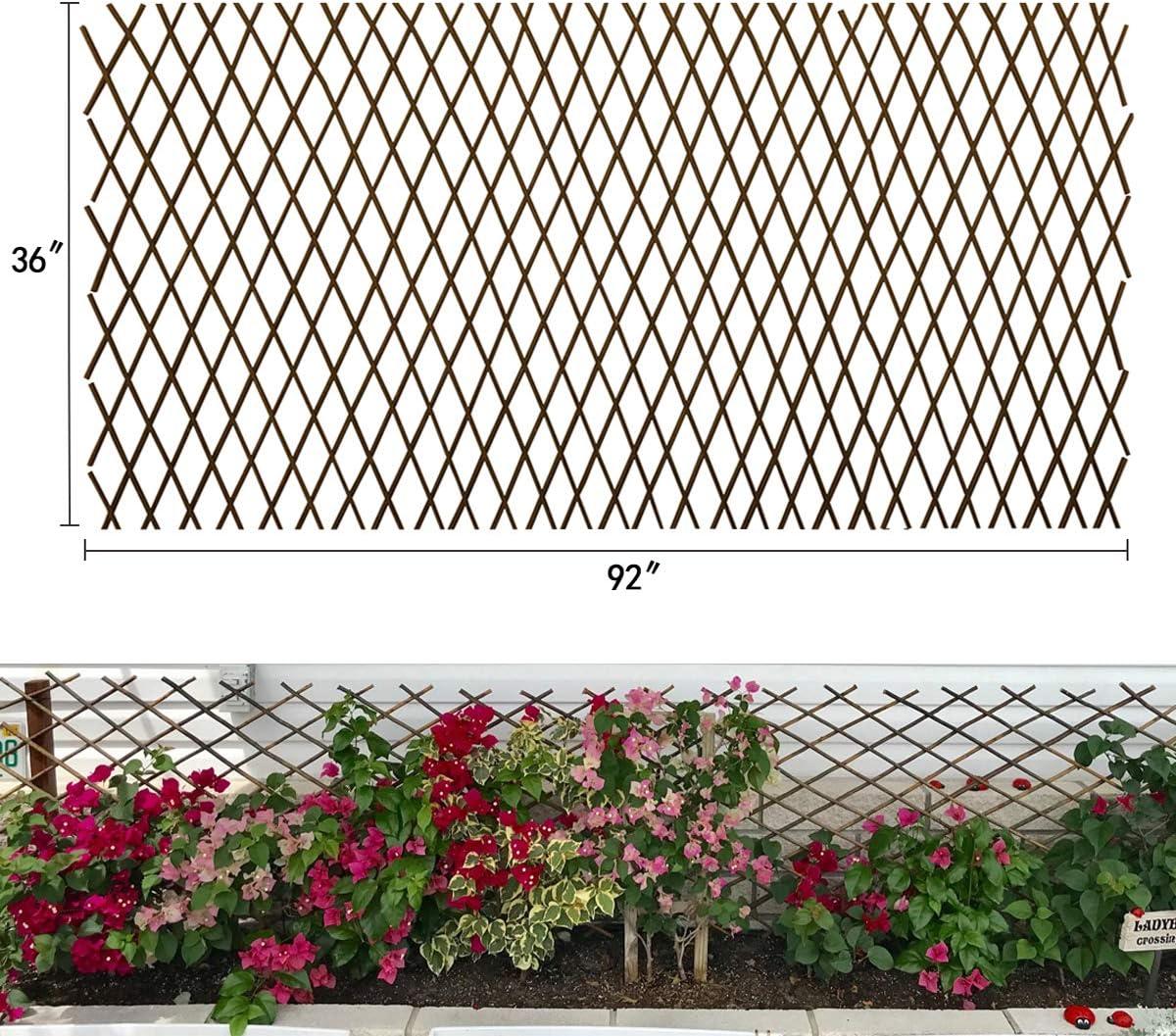 Expandable Garden Trellis Plant Support Willow Lattice Fence Panel ...