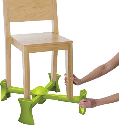 KABOOST Booster Seat for Dining Table, Green - Goes Under The Chair - Portable Chair Booster for Toddlers and Grown Ups