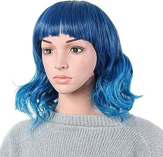 "OneDor 13"" Short Curly Women Lolita Anime Cosplay Heat Resistant Hair Bob Full Head Wigs (T3952)"