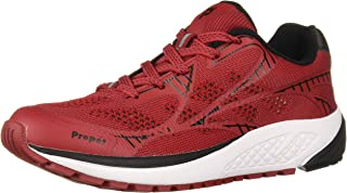 Propet Women's One LT Sneaker, Red/Black, 09H D US