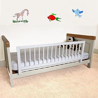 comprar comparacion Safetots - Barrera protectora de cama, madera, color blanco