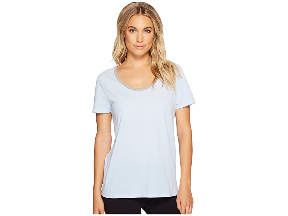 Jockey Short Sleeve Top with Back Keyhole (Sky Blue) Women